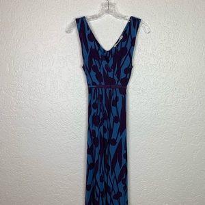 Boden dress US Size 12 blue purple maxi midi